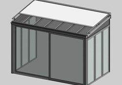 Solar greenhouse with curtain - bim