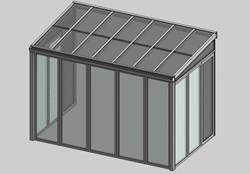 Solar greenhouse side opening - bim