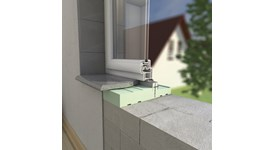Thermally insulated window sill - bim