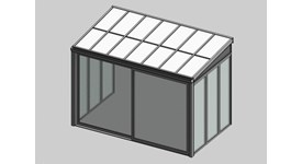 Solar greenhouse with sliding door panel blind - bim