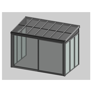 Solar greenhouse with sliding door 3m - bim