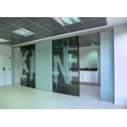 Sliding door RollGlass 100 (XOX) - bim
