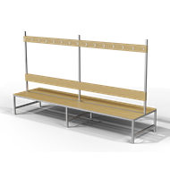 Free Standing Double Sided Changing Room Bench - bim