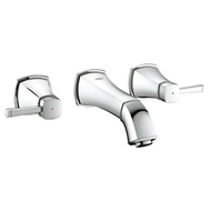 Grandera 3 Hole Basin Mixer - Wall mounted - bim