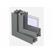 CS 68 Window outward opening double vent 76mm - bim