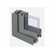 CS 68 Window outward opening double vent 115mm - bim