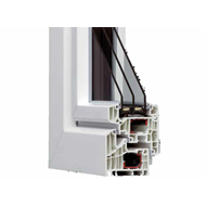 HX95 PVC reinforced with thermal exchange with 2 swings and sash overlaps  1800x1300 - bim