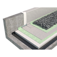 PVC roofing ballasted with gravel - bim
