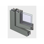 ES 50 Window outward opening double vent 105mm - bim