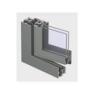 ES 50 Window inward opening Double Vent 69mm - bim