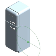 Refrigerators FAB30LP1 - Hinge position: Left - bim