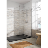 TIMOR shower enclosure with 1 fixed 8mm panel - bim