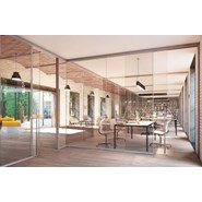 Panoramic frameless glass wall systems_double glass_Expossed - bim