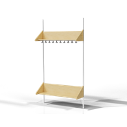 Shoe Shelf with Hat Shelf - bim