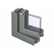 CS 77 Door outward opening with double transom - bim