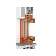 Window 2 doors M7 50 fitting system Hoco - bim