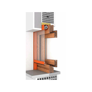 Window 2 doors M7 50 fitting system Internorm - bim