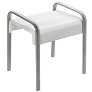 ARSIS shower stool, White and Mat grey - bim