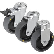 Swivel and fixed castors electrically conductive, standard version - bim