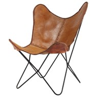 Camel leather chair - bim
