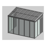 Solar greenhouse side opening 2,5m - bim