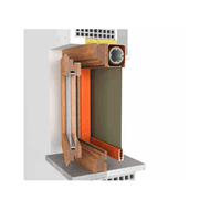 Door Window 1 door KZIP 105 fitting system - bim