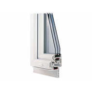 PVC restructuring H290 2 swings with sash overlaps 1900x2300 - bim