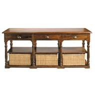 Table console en bois de sheesham massif - bim
