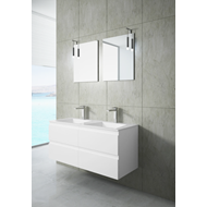 SOLLER 2 drawer bath cabinet with siphon cutout - bim