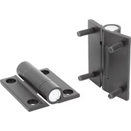 Hinges aluminium, with adjustable friction - bim