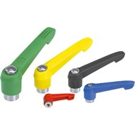 Clamping levers with plastic handle internal thread, metal parts stainless steel - bim
