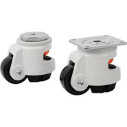 Elevating castors with foot with bolt hole or mounting plate - bim