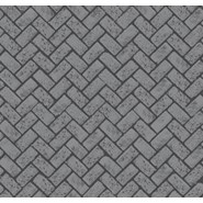 printed series - Herringbone used brick - bim