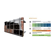 Double wall drilled 12 cm + 8 cm perforated ventilated and X60 VN G3 touch - bim