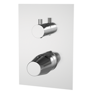 LIVRA - Two-way built-in shower mixer tap - bim