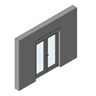 CS 86-HI Door inward Opening with double transom - bim