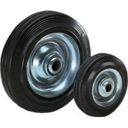 Wheels rubber tyres on steel plate rims - bim